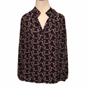 Daniel Rainn ruffle collar long sleeve top new!
